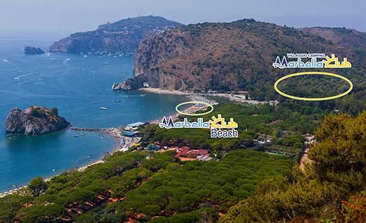 mappa per spiagge e Marbella Club